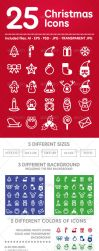 25 Christmas Icons by doghead