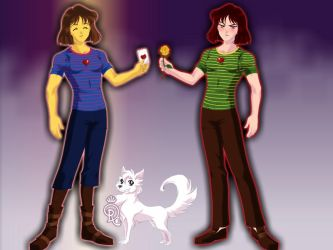 Frisk and Chara undertale by peridive78