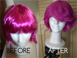 Wig Before, after by Alexamadden