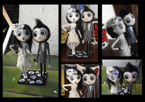 Custom topper wedding cake dolls. by Lauramei