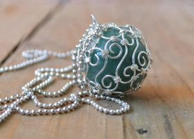 Green Aventurine Ball by oasiaris