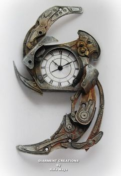 Steampunk Antigravity Clock by Diarment