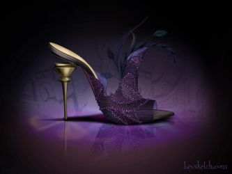 Yzma Inspired Shoe - Disney Sole by becsketch