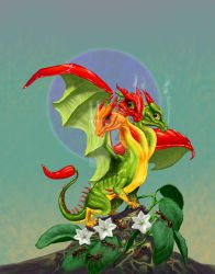 Peppers Dragon by SMorrisonArt