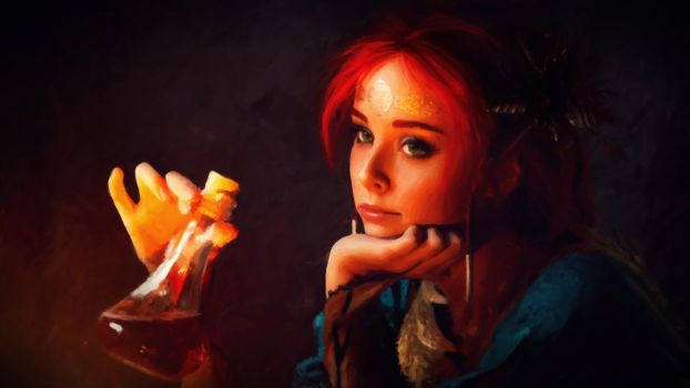 [OC] Painting - Triss Merigold Cosplay - 8k by Total-Chuck