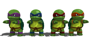 Wip: Teenage Mutants Ninja Squirtles by Gale-Kun
