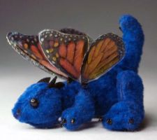 Tiny Blue Fairy Dragon Plush by The-GoblinQueen
