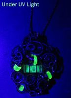 Steampunk Spirit Level and Uranium Glass in SS by HeatherJordanJewelry