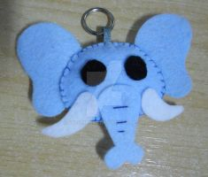 Light Blue felt Elephant Keyholder by 402ShionS3