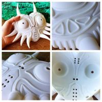 3D Printed Majoras Mask - Work in Progress by magicwaffles123
