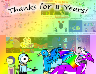 ~: Thanks for 8 Years! :~ by Piplup-Luv