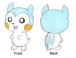 Fakemon: Baby Pachirisu by ShrubSparrow