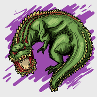 A doodle of a mean pickle by RadicalGator