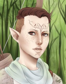 Inquisitor Lavellan by Maneodra
