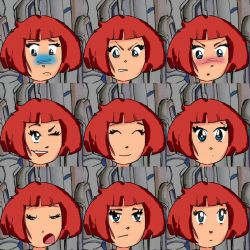 Adrift: various expressions by weatheredclown