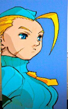 Cammy White Pixel Painting by RubiksPhoenix