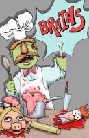 Zombie Swedish Chef by hannahneale
