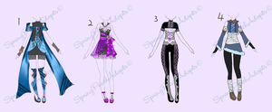 Outfits Batch-close by SpringPeachAdopts