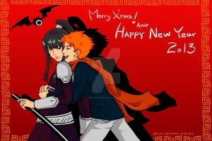 2013 D.grayman new year card by digikolobong