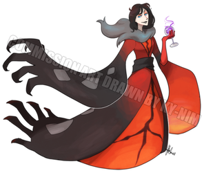 Commission: Yvonne the Yveltal by ky-nim