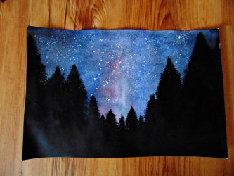 Starry night in the wood by live-your-dreamss