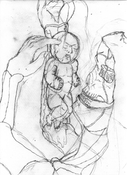 The birth of Pain - sketch by holyguyver