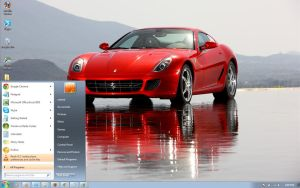 Ferrari-599-gtb windows 7 theme by windowsthemes