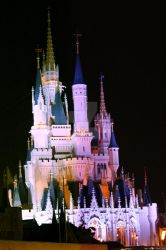 Cinderella's Castle at Night by BrittanysDesigns