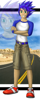 Life is a highway -human Sonic by Kahunalilly