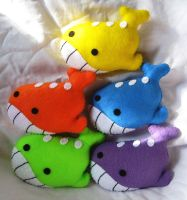 Rainbow of Wailord Plushes
