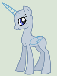 Base - alicorn poneh by MPLbasemaker33