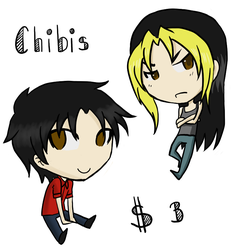 Commission Example- Chibis by Doridachi