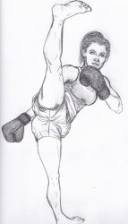Do Not Mess With This Cute RedHeaded Kickboxer by CharmingCurmudgeon