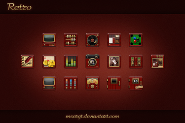 Retro icons by msergt