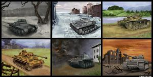 German Panzers by amircea