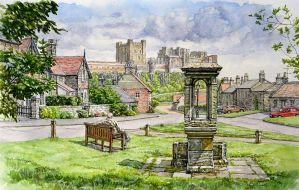 Bamburgh village, Northumberland by jeffsmith1955