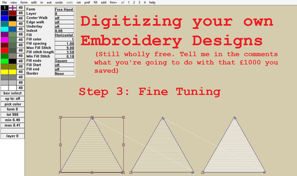 Digitizing your own Embroidery Designs: Step 3! by smashfold