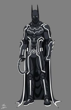 Batman Tron commission by phil-cho