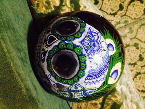 Dia del los Muertos Bowling ball by Swiftstride