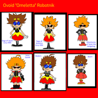 The Many Faces of Ovoid 'Omeletta' Robotnik by 3dmarioworld