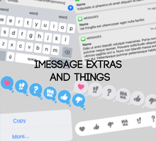 iMessage Extras PSD pack by ckhoot