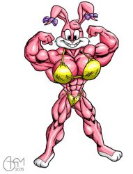 Babs Bunny Bicep Pose by AlphaCentaurian