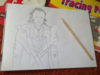 Loki pencil drawing by dciphoenix