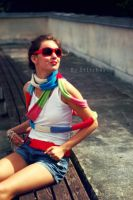 Rainbow Coloured Lady by St1tches