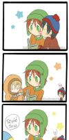 South Park: Kyle's reading by Kamaniki