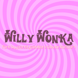 Willy Wonka Font by PandyCreations