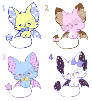 [open] Bat Adoptables 2 by Romaji