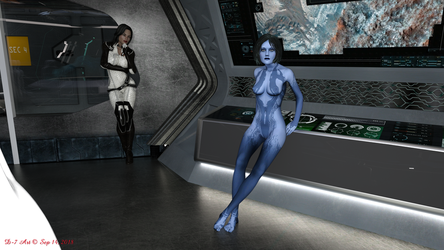 Cortana and Miranda Control Room 2-2 by ddpepsi