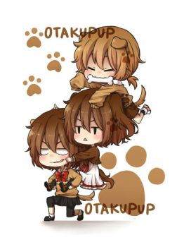Otachie and Pets by OtakuPup