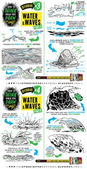 How to draw SEA WATER and WAVES tutorial by STUDIOBLINKTWICE